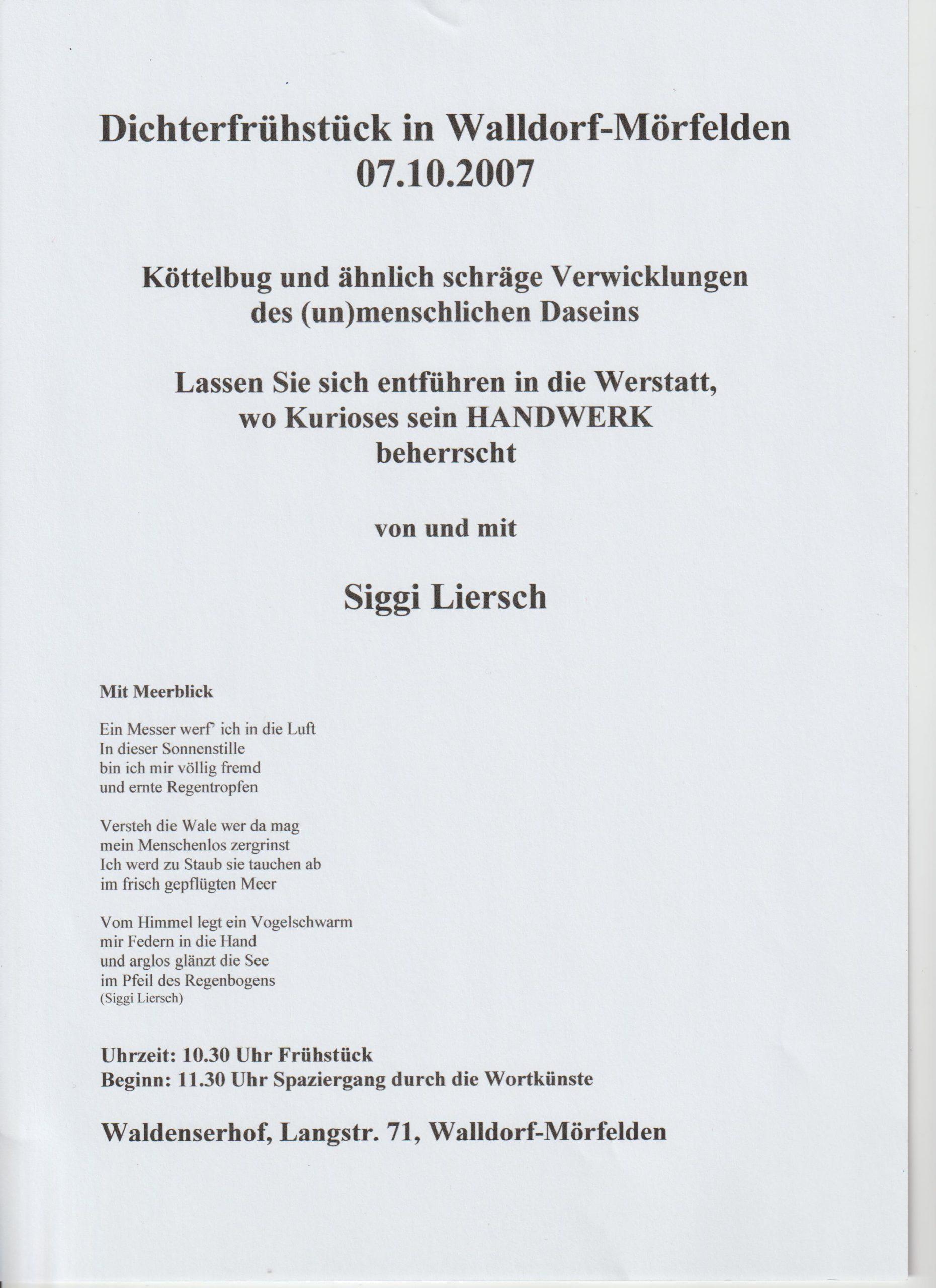 Ankündigung 2007