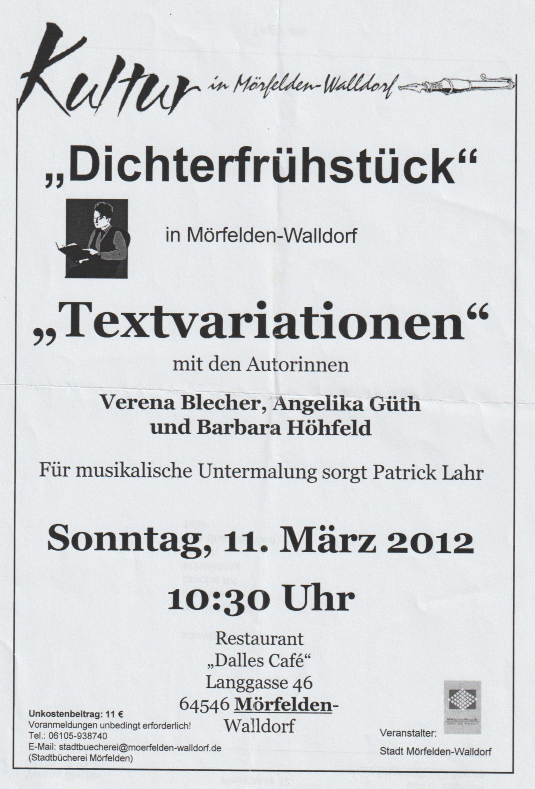 Ankündigung März 2012