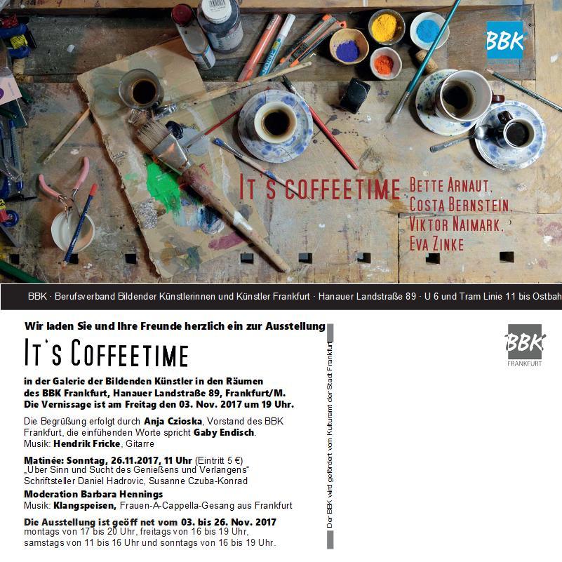 BBK Matinee 2017 Ausstellungsinladung IT`S COFFEETIME