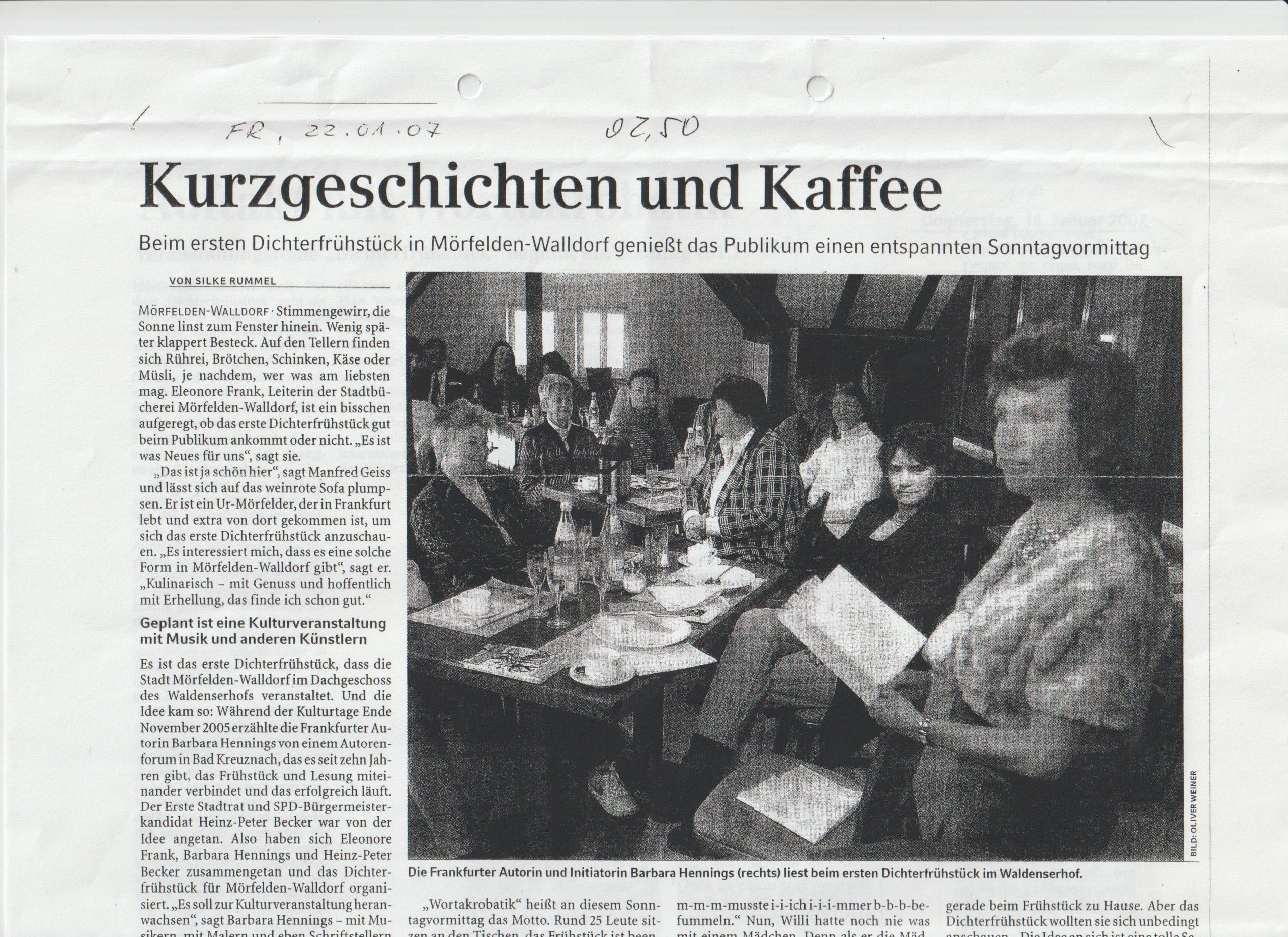 Dichterfrühstück Walldorf Premiere II