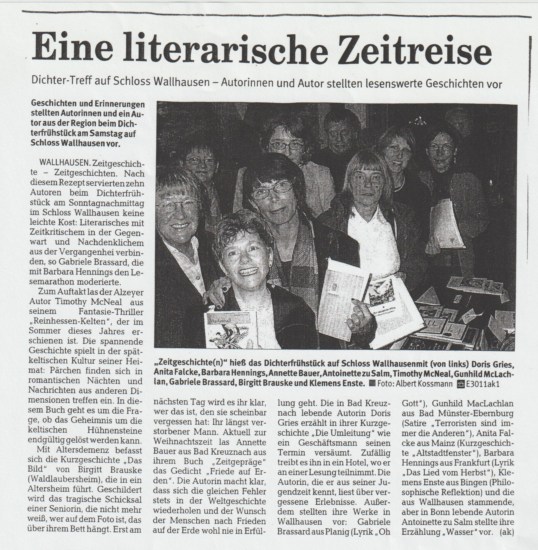 Zeitungsartikel Zeitreise