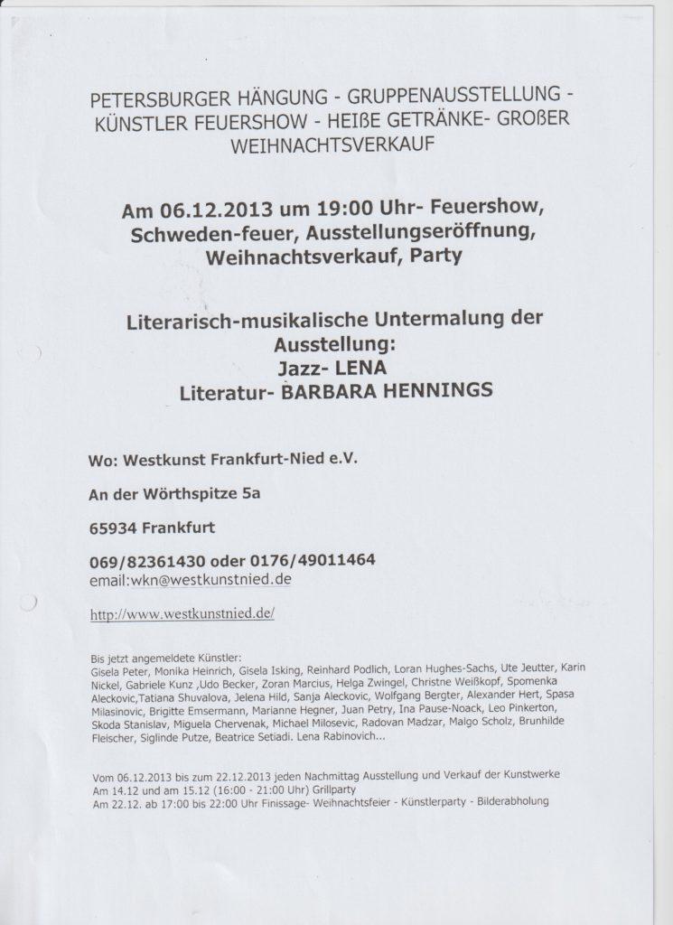 Ankündigung Peterburger Hängung Rotes Haus