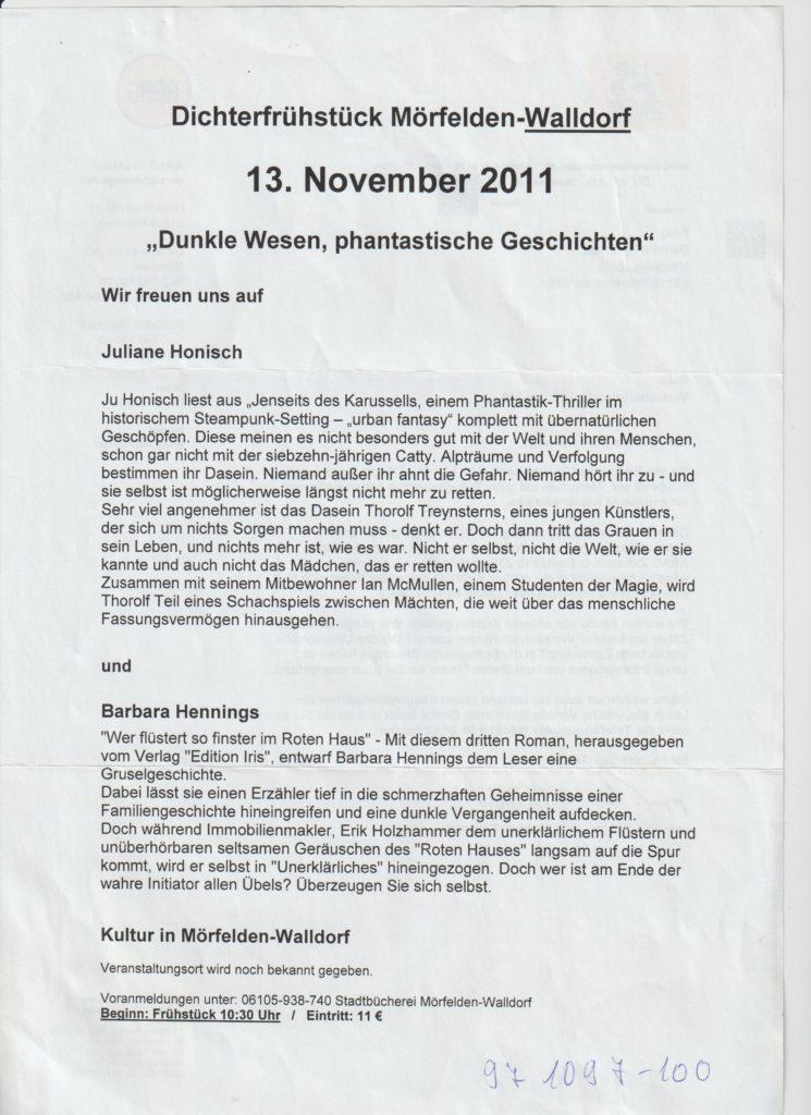 Ankündigung Walldorf Rotes Haus