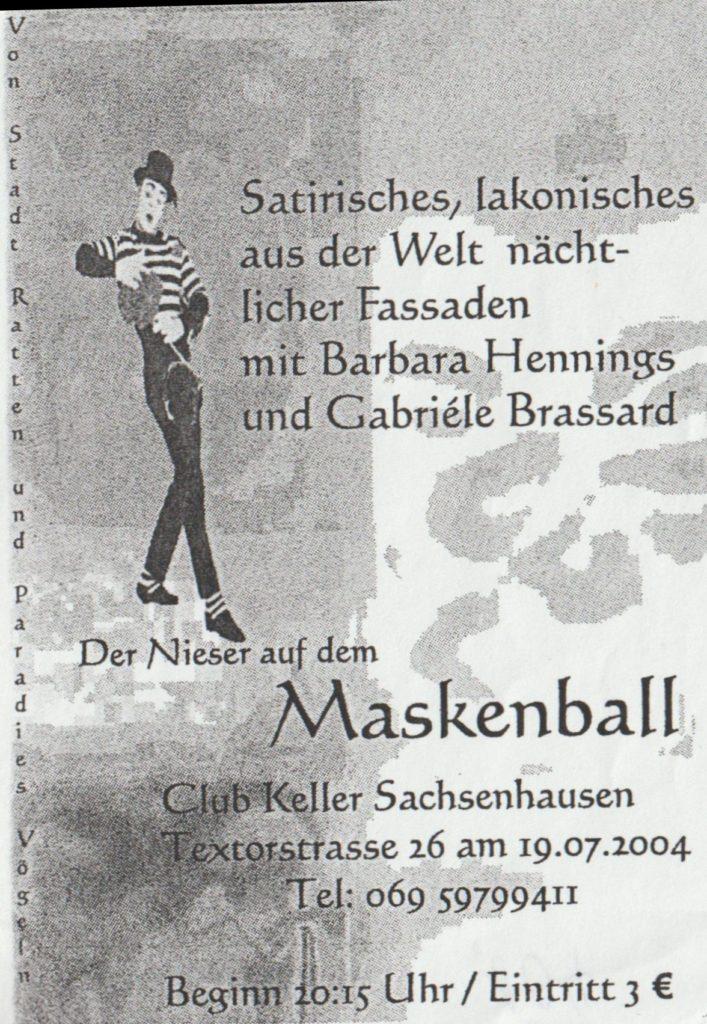 Ankündigung der Nieser auf dem Maskenball 2